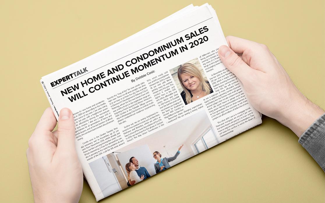 New Home and Condo Sales Will Continue Momentum in 2020